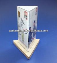 Acrylic tripartite Shape Info stand