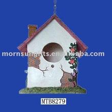Home Decoration Vintage Cheap Resin Bird House