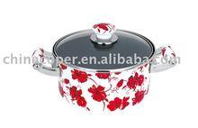 Porcelain enamel non-stick sauce pot-enamel cookware