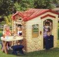 بيت بلاستيكي لعبة طفل في الملعب نزهة بيت الدمية