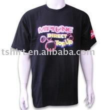 Men black cotton 200 gsm summer t shirts