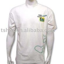 Custom white fashion logo boys tshirt