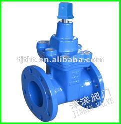 Rubber-seated underground gate valve stem gate valve