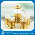 Copo de chá e bule de chá de vidro, Árabe jogo de chá