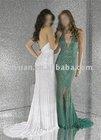white / green bangkok dress
