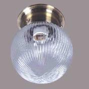 indoor living room flush mount globe golden base glass cover E27 ceiling lights