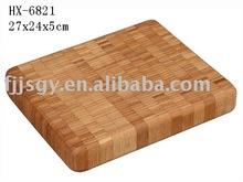 Square Bamboo Butcher Board with end grain