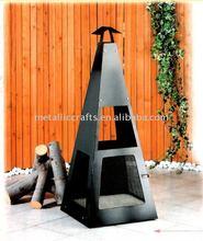 Steel chiminea