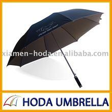 Auto open promotion parapluie de golf avec cadre solide et ruban tissu enduit coupe - vent