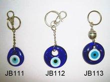 Fashion glass evil eye key chains,Turkey keychain,jewish jewelry Crafts