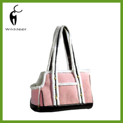 pink fashional pet carrier bag for dog or cat
