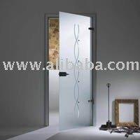 Interior tempered glass door