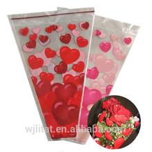 big transparent custom print plastic Bopp flower sleeves