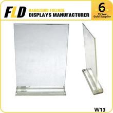 Display racks acrylic stand/acrylic price holder/acrylic sign holder