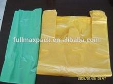 Good price HDPE yellow t-shirt bag