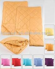 100% polyester microfiber fleece traveling blanket or quilt
