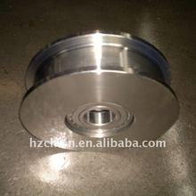 Big steel pulley with bearings