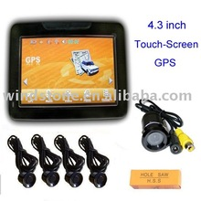 Wireless Camera System!4.3 inch Car Gps Navigation+Touch Screen+Bluetooth+FM Transmitter(G943)
