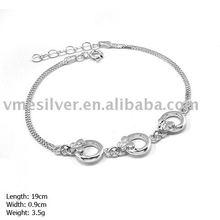 925 Silver Bracelet, Plain Silver Butterfly Bracelet (SL-138)