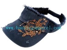 crystal frayed cool adjustable visor cap hat
