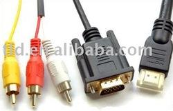 HDMI to VGA RCA Cable
