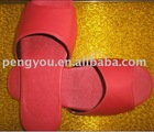 RED Open Toe Disposable Hotel Slippers