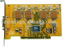 Techwell 6802 H.264 DVR card, 4ch real time K-Guard Video Plata