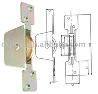 Window pulley/caster