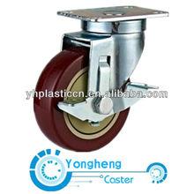 side brake caster
