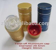 2013 new design Twist-off aluminium wine colored bottle caps
