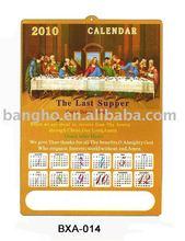 Christian pvc 3d embossed wall calendar 2013