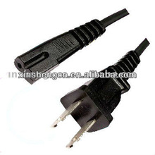 US 2 pin power cable with IEC C7 figure 8 end