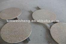 navajo white round granite table top