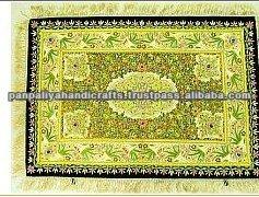 Handmade Precious Jewel Carpet Zardozi Wall Hanging
