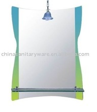 colored hot melt art mirror with shelf