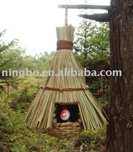 grass Bird roost home, natural nest, hanging small cage decor, bird accessory,pet products