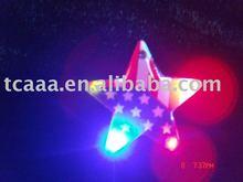 led flashing national flag magnetic badge