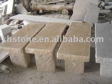 long garden stone bench, park stone bench, outdoor long stone bench