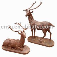 Animal Sculpture, Cast Iron Deer Statue