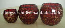 Decorative mosaic craft glass candle holders/jar