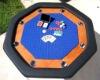 "48"" octagonal poker table"