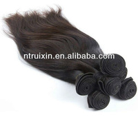 "wholesale price virgin remy indian human hair,20"" straight,natural black 1B hair weft"