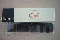 Disposable plastic black hotel comb DT-S021