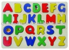 Puzzle aus holz, chunky alphabet puzzle aus sperrholz
