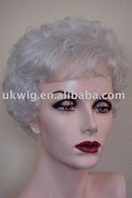 fashion wigs/ lady's short wig, grey hair wig