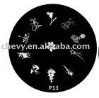 2014 custom nail art stamping plates