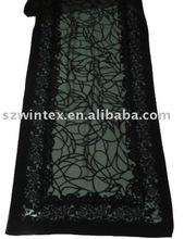silk velvet scarf PRINT & burn out border design !