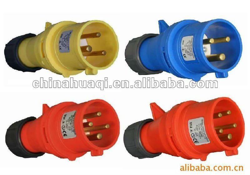 Industrial plug and socket industrial plug industrial socket ip44 ip55