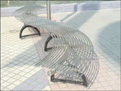 Steel bench, stainless steel bench, outdoor bench
