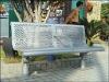 Street bench, park bench, metal bench, outdoor bench